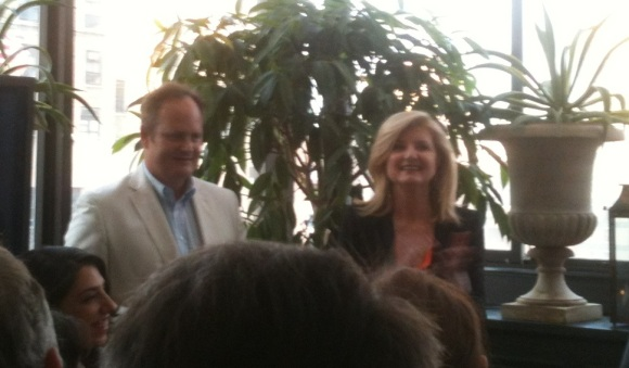 Arianna Huffington and Tim O'Brien